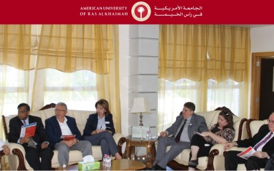 Albert Beckford Jones, Special Advisor to AAAS Research Competitiveness Program visits with AURAK leadership