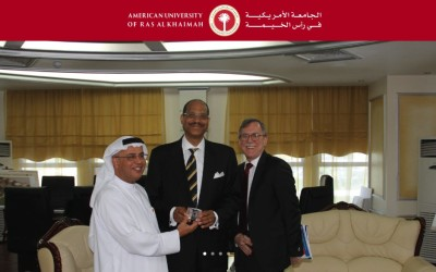 A visit between the administration of the American University of Ras Al Khaimah (AURAK) and Special Advisor, Albert Beckford Jones of The American Association for the Advancement of Science (AAAS)